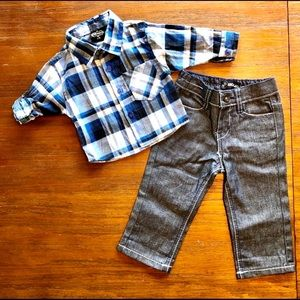 King Maker Boys  Button Up & Jeans Outfit